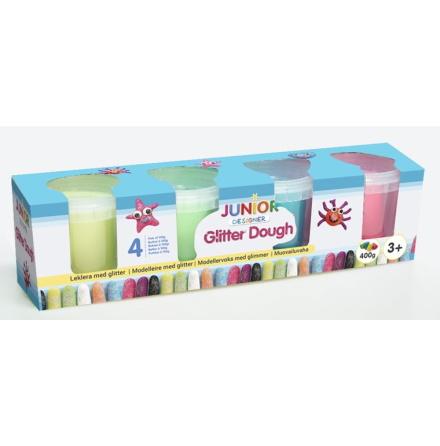 Junior Designer Leklera med Glitter, 4-Pack