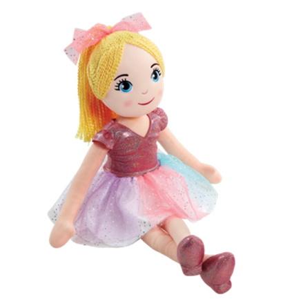Snuggle Buddies Sparkle Rag Doll 70cm, Yellow Hair
