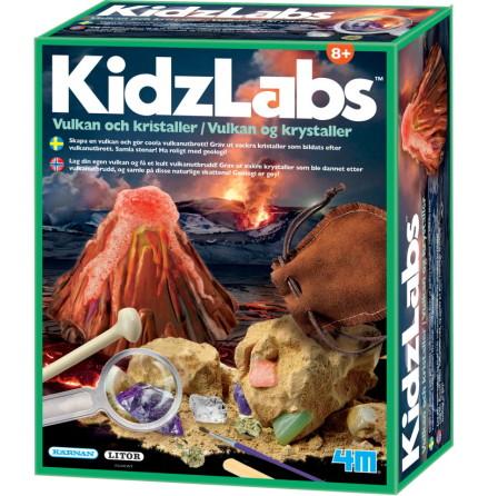 4M KidzLabs Vulkan och Kristaller