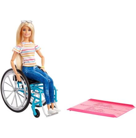 Barbie Fashionistas Docka med Rullstol + tillbehör