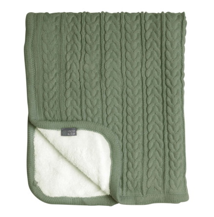 Vinter & Bloom Cuddly Filt, Forest Green