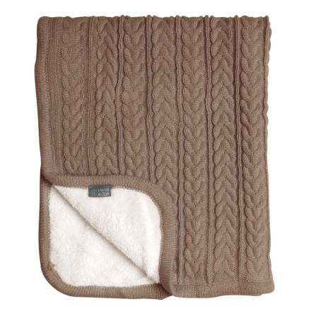 Vinter & Bloom Cuddly Filt, Almond Beige