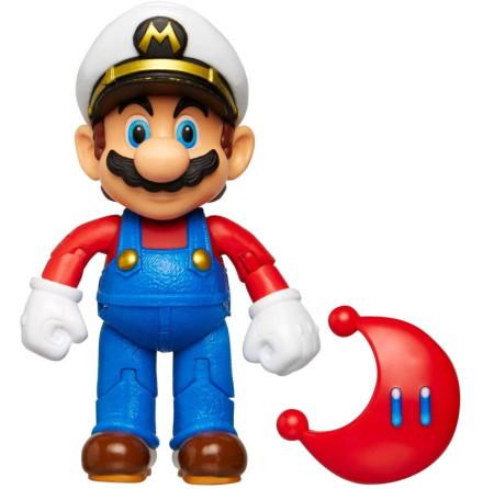 Kapten Mario med röd Power Måne, 10cm, Super Mario Figur
