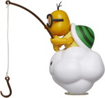 Lakitu med fiskepö, 10cm, Super Mario Figur