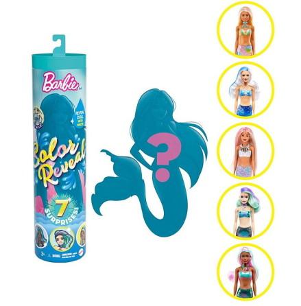 Barbie Color Reveal Mermaids Ass. Wave 4 Docka
