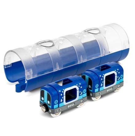 BRIO Tunnelbanetåg och tunnel