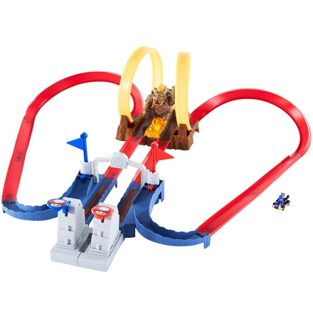 Hot Wheels Mario Kart Bowsers Castle Track Set