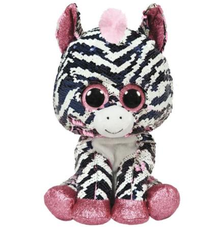 TY Flippables Zoey Rosa Paljett Zebra