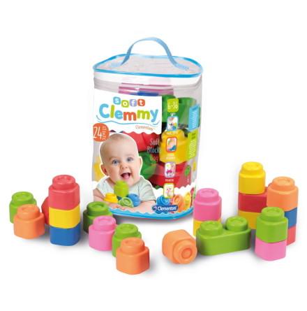 Clementoni Baby Clemmy Soft Blocks Set, 24st