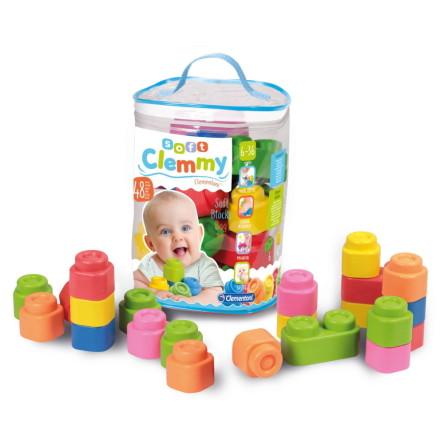 Clementoni Baby Clemmy Soft Blocks Set, 48st