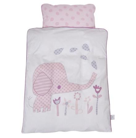 BabyDan Påslakanset för vagn/vagga, Elefantastic Pink