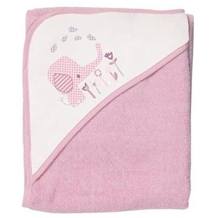 BabyDan Badcape, Elefantastic Pink, 90x90cm