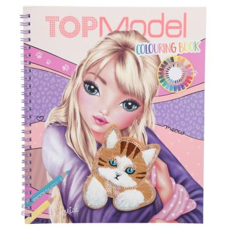 TOPModel Målarbok Cat