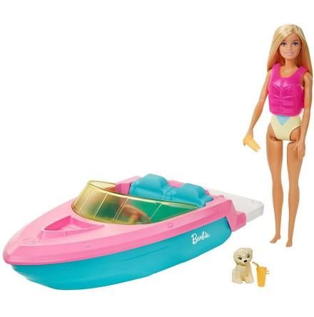 Barbie Docka med Båt och tillbehör