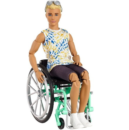 Barbie Ken Fashionistas Docka med Rullstol + tillbehör