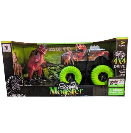 Monstertruck och T-Rex 4x4 Friktion