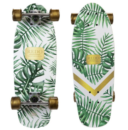 ReDo Skateboard Shorty Cruiser, Green Palm