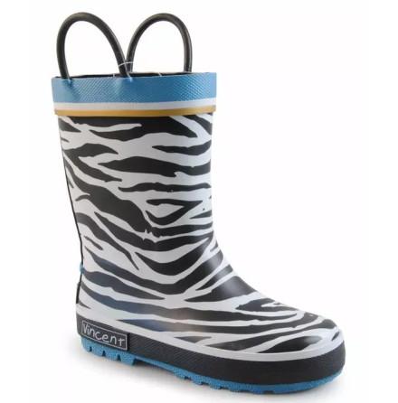 Vincent Gummistövlar, Zebra Gold Blue