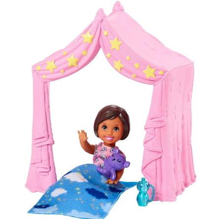 Barbie Skipper Babysitter Barnvakt, Tält och Sovsäck