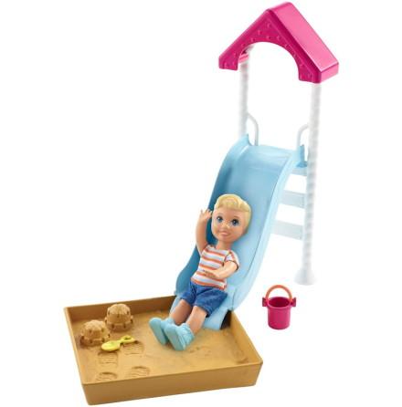 Barbie Skipper Babysitter Barnvakt, Rutschkana och Sandlåda