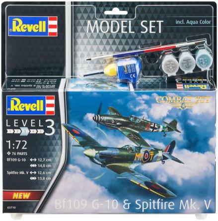 Revell Messerschmitt Bf109G-10 och Spitfire Mk.V, Modell-kit