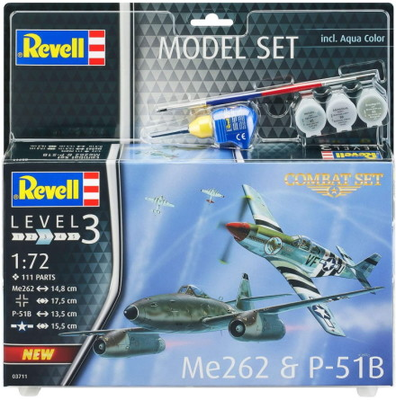 Revell Messerschmitt ME262 och P-51B Mustang, Modell-kit