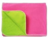 Mjuk fleecefilt Rosa/Grön