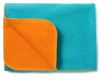 Mjuk fleecefilt Blå/Orange