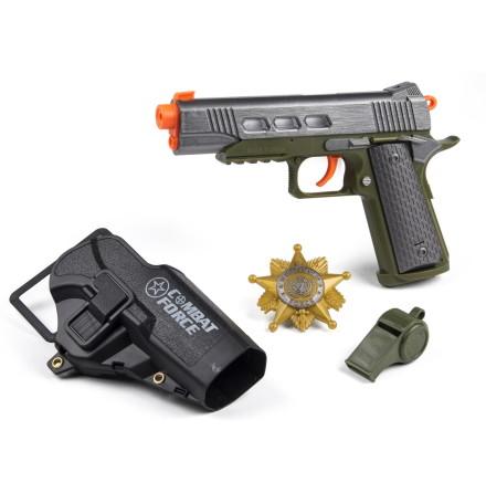 Militär Pistolset med ljus och ljud