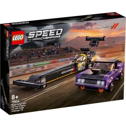 Lego Speed Champions Mopar Dodge//SRT Top Fuel Dragster and 1970 Dodge Challenger T/A