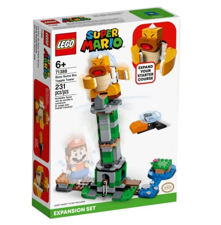 Lego Super Mario Boss Sumo Bros fallande torn - Expansionsset