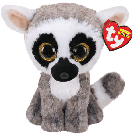 TY Beanie Boo's Linus Grå/Vit Lemur