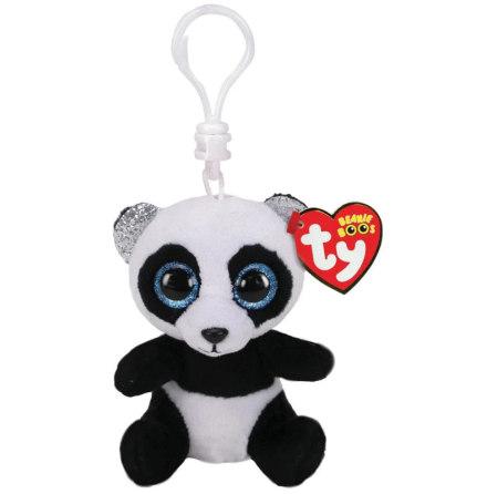 TY Beanie Boos, Bamboo Svart/Vit Panda, Clip