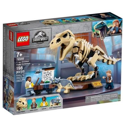 Lego Jurassic World Fossilutställning med T-rex