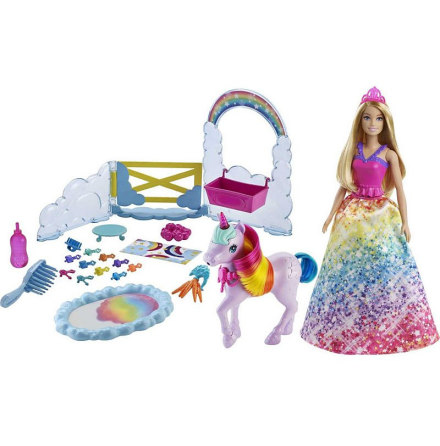 Barbie Dreamtopia Playset with Unicorn and Rainbow Putty