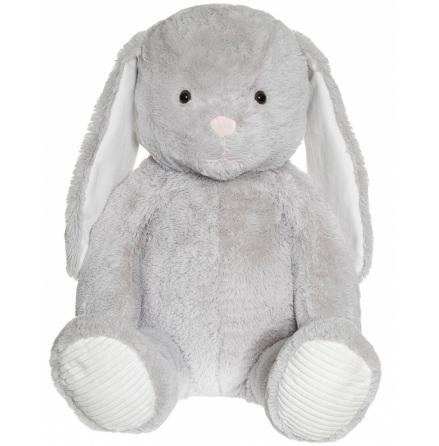 Kanin, Grå, Stor 100cm