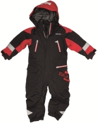 Haig Overall, Black - Red