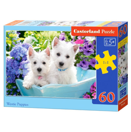 Westie Puppies, Pussel, 60 bitar
