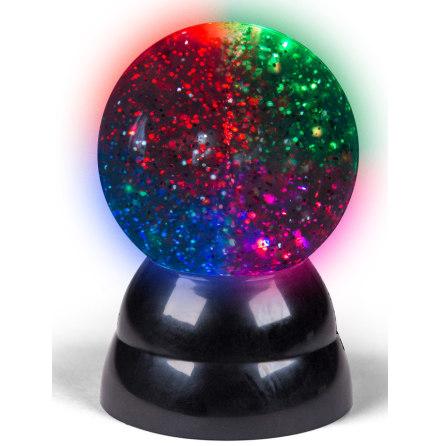 Glitterkula med LED-ljus